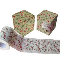 Quality 2ply  250 sheets  christmas printed toilet paper 100% virgin pulp China paper tissue wholesale