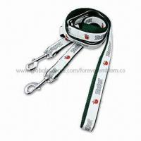 China Adjustable Pet Leash with Collar and Handle, Customized Designs on sale