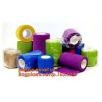 Quality veterinary colored sport waterproof horse medical non-woven elastic cohesive bandage,First Aid Elastic Compression Wraps wholesale