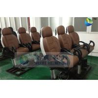 Quality Pneumatic Brown Color Motion Theater Chair , Leather Fiber Glass wholesale