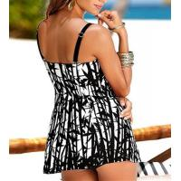 Black white art printing women Tankinis swimwear made in China