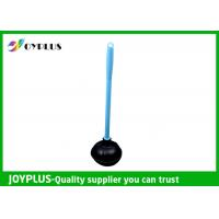 Quality Durable Bathroom Cleaning Accessories Black Toilet Plunger With Plastic Handle wholesale