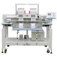 Quality Professional Double Head Cap Embroidery Machine , Leather Embroidery Machine wholesale