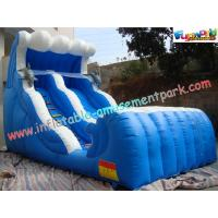 China Large Inflatable Slides double lane made of 0.55mm PVC tarpaulin for rental, commercial on sale