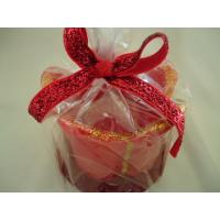 Quality Jasmine / lavender red Christmas scented candles flower shape wholesale
