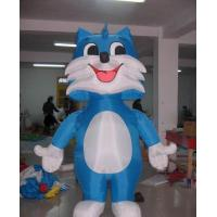 Quality 2m H cute blue kitty inflatable cat for decorations, advertising wholesale