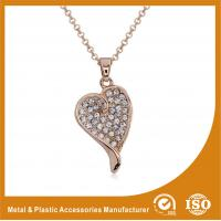 Quality OEM / ODM Metal Chain Necklace For Women Heart Pendant Necklace wholesale
