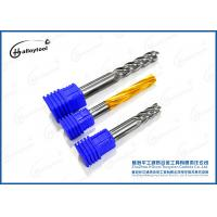 China Metal Working CNC Square Tungsten Carbide End Mill Long Shank 4 Flutes on sale