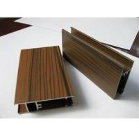 Cheap Wooden Grain Color Aluminum Door Profile for Slid Hung Door with Punching GB/T 5237 for sale