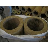 China Rigid rock wool pipe insulation, rock wool pipe section on sale