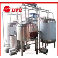Quality 1500L Semi-Automatic Beer Microbrewery Equipment Steam Heating wholesale