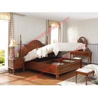 Quality Ancient Rome style Solid Wood Bed with Storage in Bedroom Furniture sets wholesale