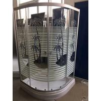 Quality Palm Tree Shower Cabin With Tray , Bathroom Corner Shower Enclosures Pop - Up Waste Drain wholesale