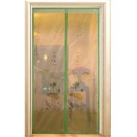 China screen door curtain with magnetic, printed with beautiful logo on sale