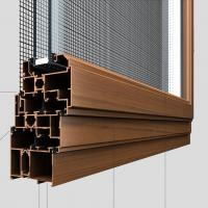 China Australia Standard AS2047 Certified wood color Aluminum Wood Grain slide window and door Frame on sale