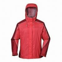 China Rainwear, Windbreaker Ideal for Outdoor, Nylon rip-stop Fabric with PU Coating, Reflective Piping on sale