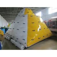 Quality 0.9mm PVC Tarpaulin Inflatable Floating Iceberg Used In Lake wholesale