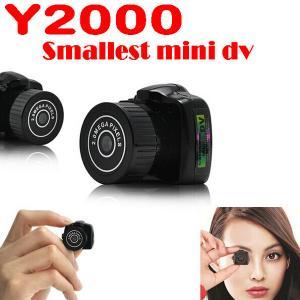 Quality Y2000 2MP Smallest Mini DVR Camera Spy Hidden Covert Video Recorder Camcorder PC Webcam wholesale