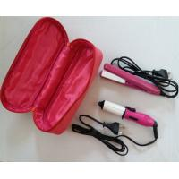 China personal hair care product MINI suit hair curler hair straightener PTC heating element PA66 ABS PC material on sale