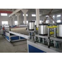 Quality High Efficiency PVC Foam Board Machine , Double Screw Plastic Board Extrusion Line wholesale