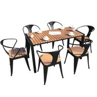 China 100% Handmade High Level Plastic Wood Bistro Table And Chairs on sale