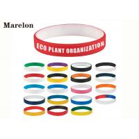 Quality Multi Color Wristband Custom Silicone Bracelet With Screen Printing Logo wholesale