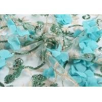 Quality 50 - 51 Wedding Embroidered Mesh Fabric Design Sequin Stretch Water Soluble wholesale