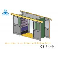 Quality Cargo CleanRoom Air Shower With Width 1600mm Automatic Double - Leaf Sliding Doors wholesale