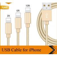 Quality 3FT 6FT 10FT USB Nylon Braided USB Data Cable iPhone Charger Cord 1m 1.8m 3m wholesale