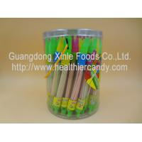 Quality Whistle Pen Sweet Sour CC Sticks Candy With Red / White / Pink Colour wholesale