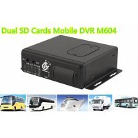 Buy cheap H.264 Dual SD Cards 3G WIFI Car 4 channel Mobile DVR With GPS Tracking product