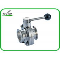 Quality Full Port Butterfly Valve Sanitary , High Performance Butterfly Valves For Food Machines wholesale