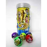 Quality The Word Cup Theme healthy hard candy / 6g multi fruit flavor football shape hard candy in jars wholesale