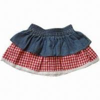 China Girl's short skirt with Y/D check on sale