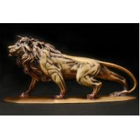 Cheap Outdoor Large Metal Lion Sculpture Garden Cast Bronze Sculpture For Park for sale