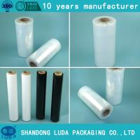 China 100% raw material strong tensile manual cling film wrap film with LOW PRICE on sale