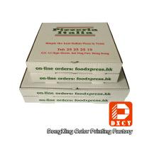 White Takeaway Pizza Packaging Boxes , Custom Logo Printing Innovative Foldable Pizza Box