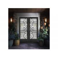 Cheap Custom Spray Coating Wrought Iron Storm Door With Hot Dip Galvanized for sale