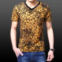 China Men's v-neck T-shirt men shirt sale for USA and Europe on sale