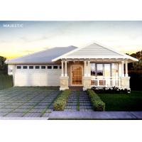 Quality Beautiful Prefab Bungalow Homes / Bungalow House Plans With Corrugated Steel Roofing wholesale