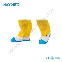 China PP CPE Coated Anti Slip Medical Disposable Surgical Shoe Covers on sale