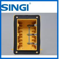 Cheap Three gang plastic outlet boxes with covers , electrical outlet box for sale