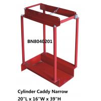Quality Narrow Type Compressed Gas Cylinder Storage Racks With Chain Divider / Lockable Pin wholesale