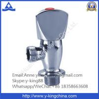 Quality Chrome Plated Brass Angle Valve with Zinc Handle wholesale