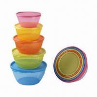 Quality Food Container Set, Made of PP, Available in Various Sizes and Colors, BPA-free, FDA/EN 71 Certified wholesale