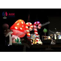 Quality Customized Blow Up Flood Lights Inflatable Santa Outdoor Stage Decoration Candy Bars wholesale