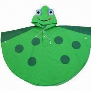 Quality Frog rain poncho/children's fashionable poncho wholesale