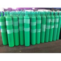 Green Blue High Capacity 37Mn Steel Seal Compressed Gas Cylinder 40L - 80L