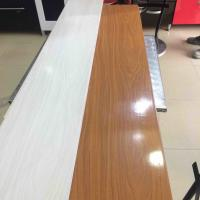 Quality 25cm Decorative Plastic Wall Panels , Wood Interior Wall Paneling Excellent Insulation wholesale