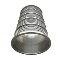Quality SS304L Wedge Wire Continuous Slot Water Well Screens For Water Well Drilling wholesale